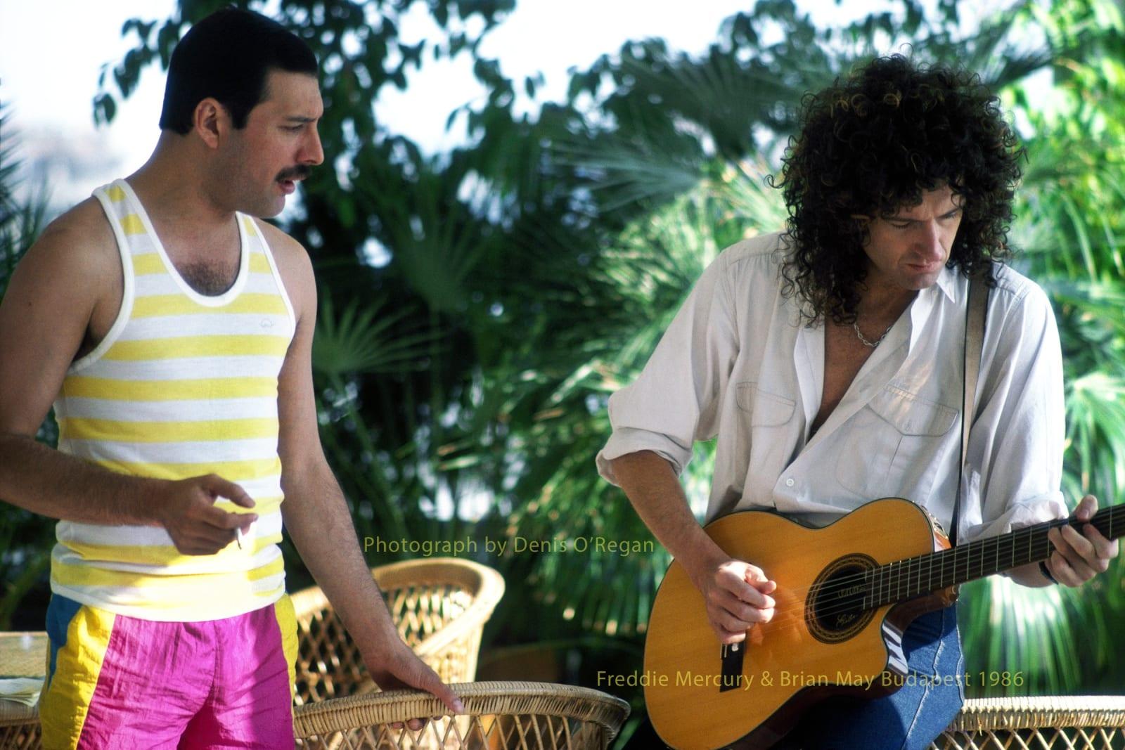QUEEN, Freddie & Brian Budapest, 1986