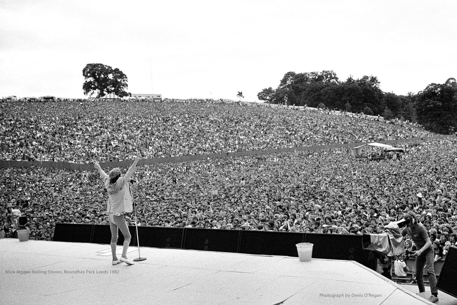 ROLLING STONES, Mick Jagger Roundhay Park, 1982