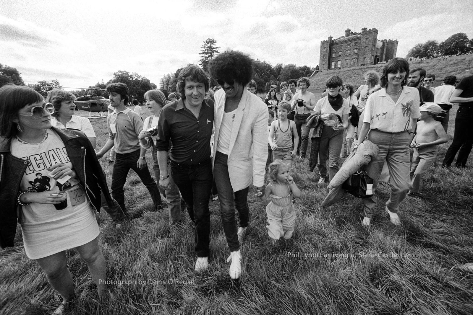 Phil Lynott Arriving, Slane Castle, 1981