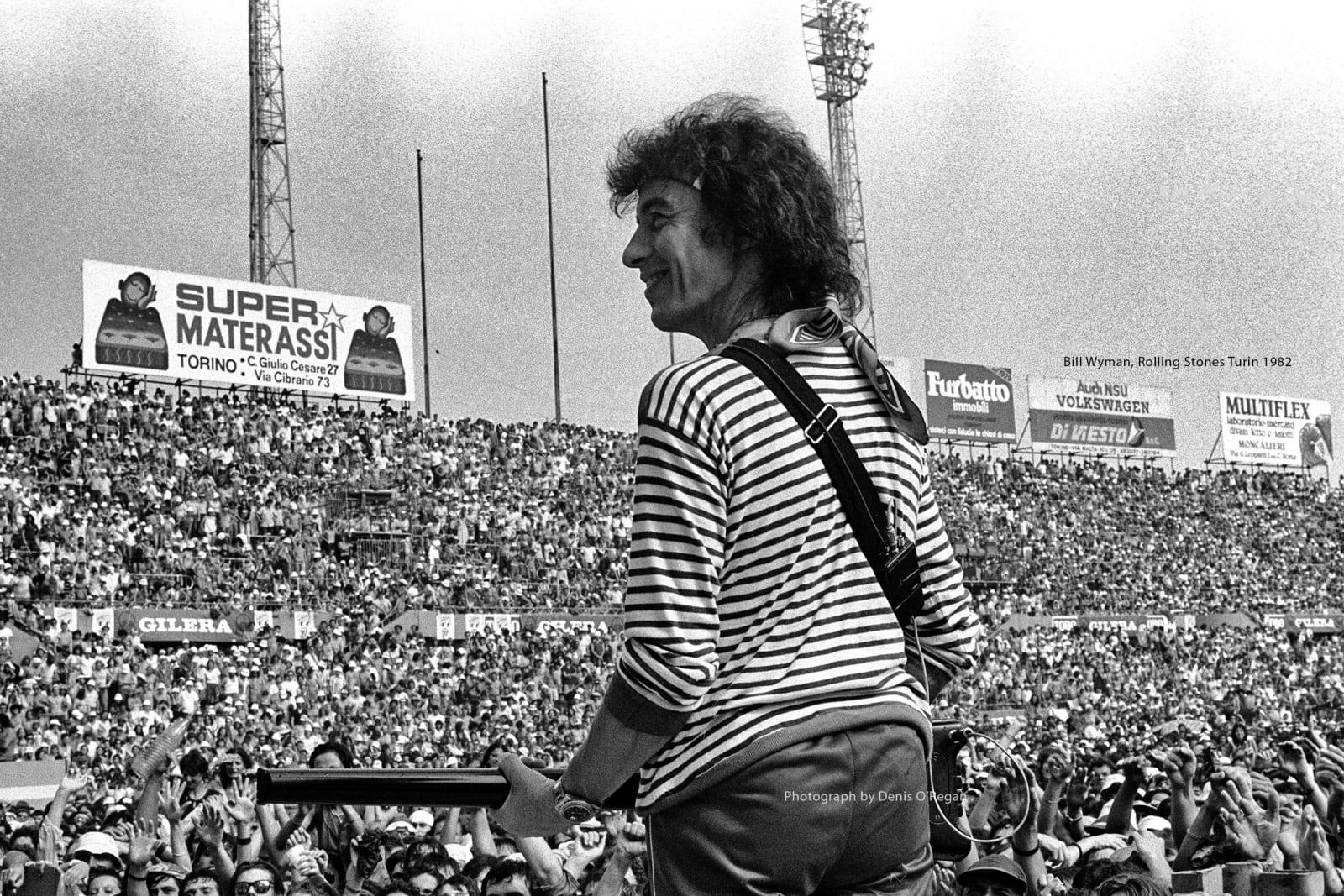 ROLLING STONES, Bill Wyman Turin Italy, 1982