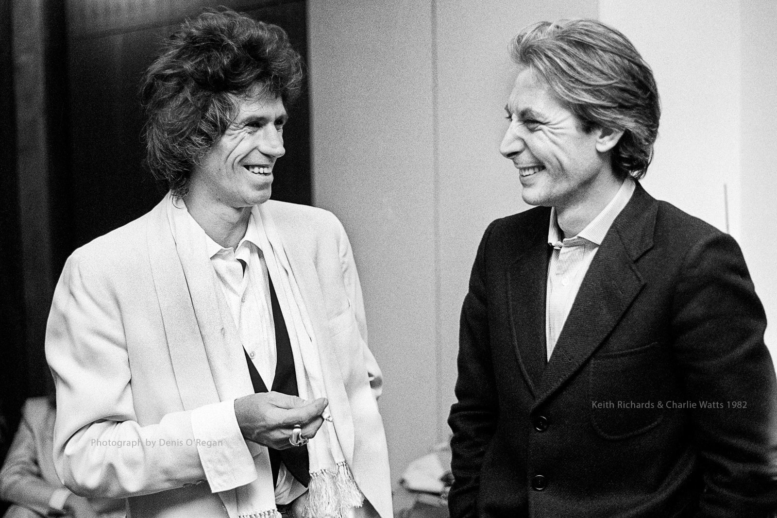 ROLLING STONES, Keith & Charlie backstage, 1982
