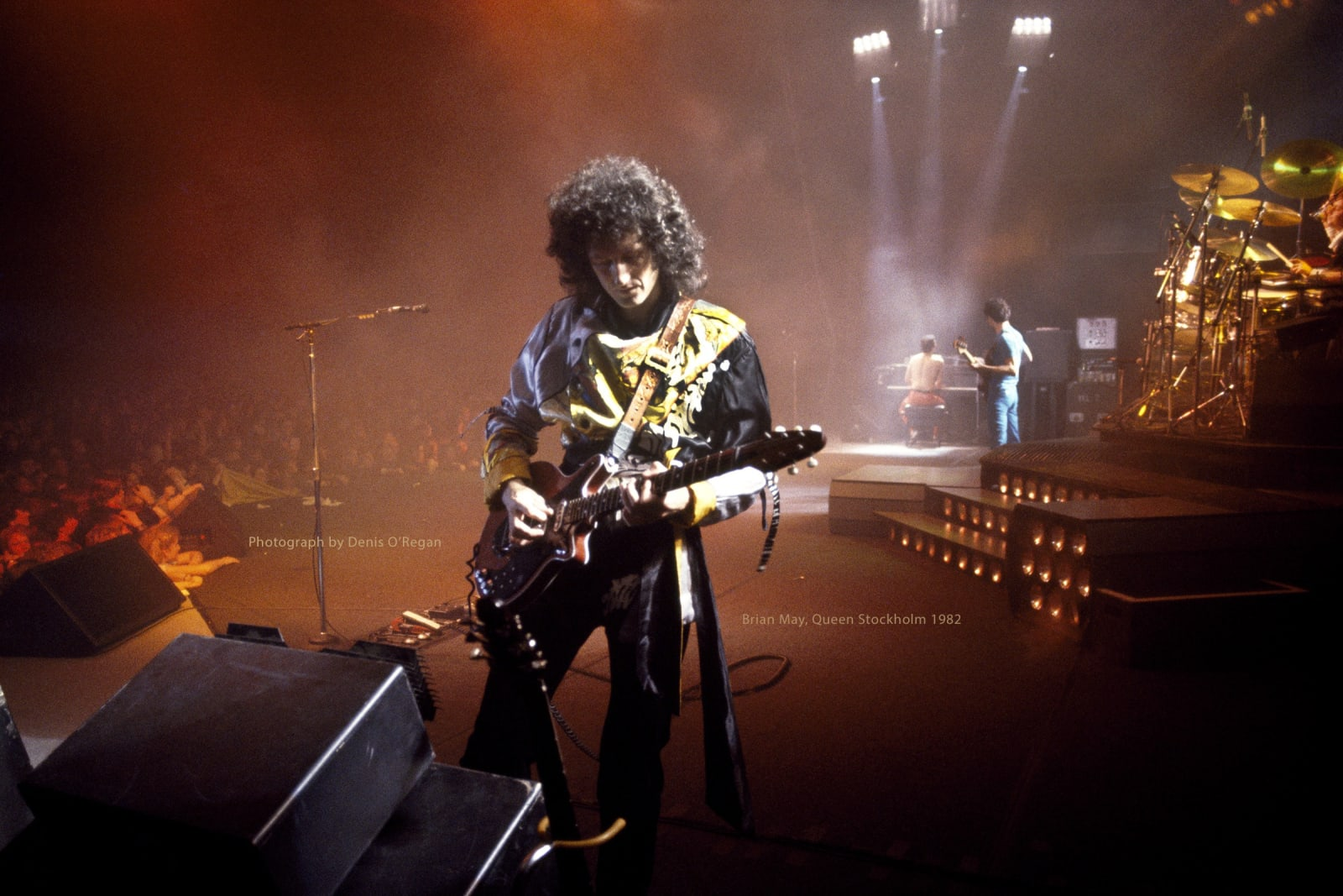 QUEEN, Brian May Stockholm Sweden, 1982