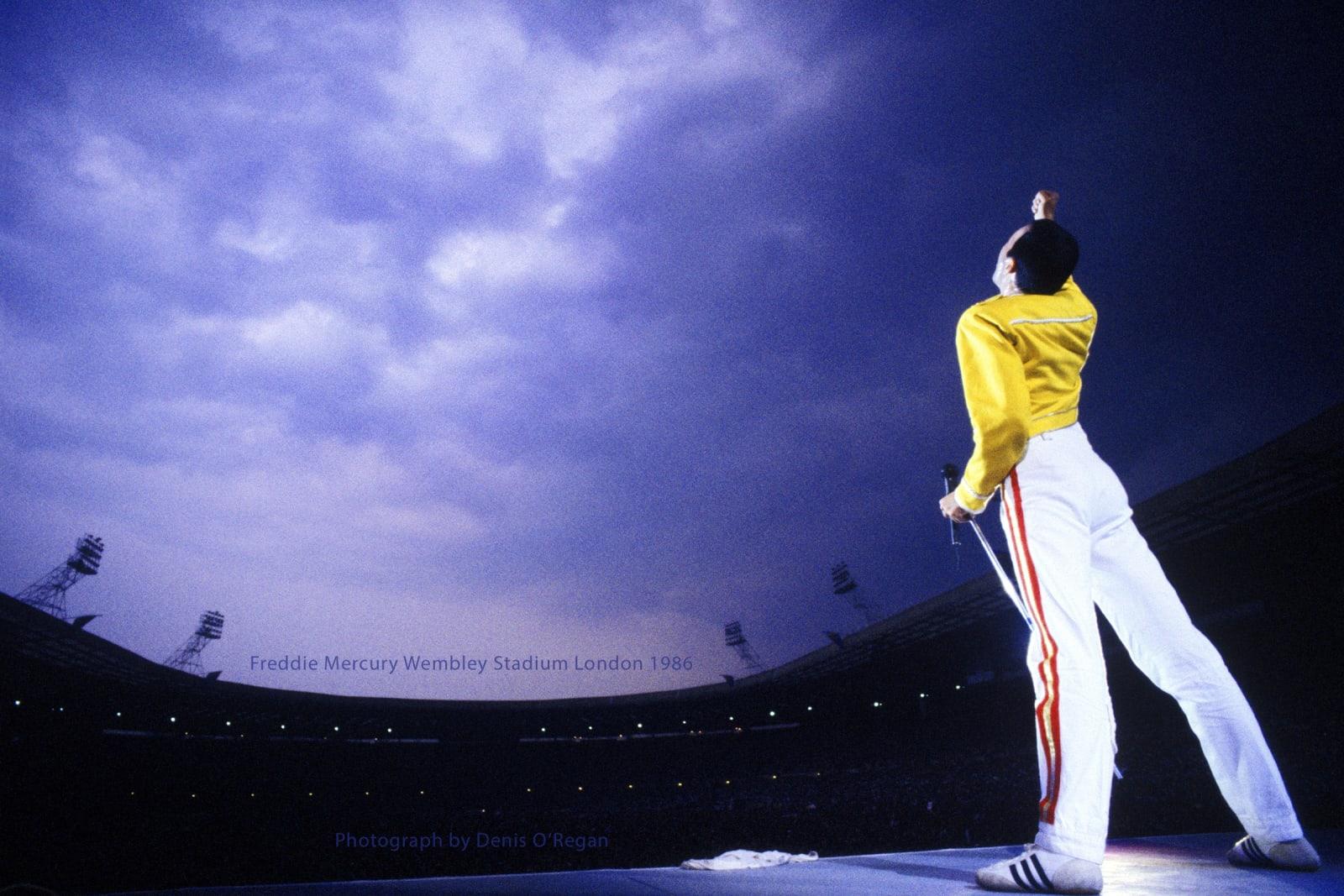 QUEEN, Freddie Mercury Wembley Stadium, 1986