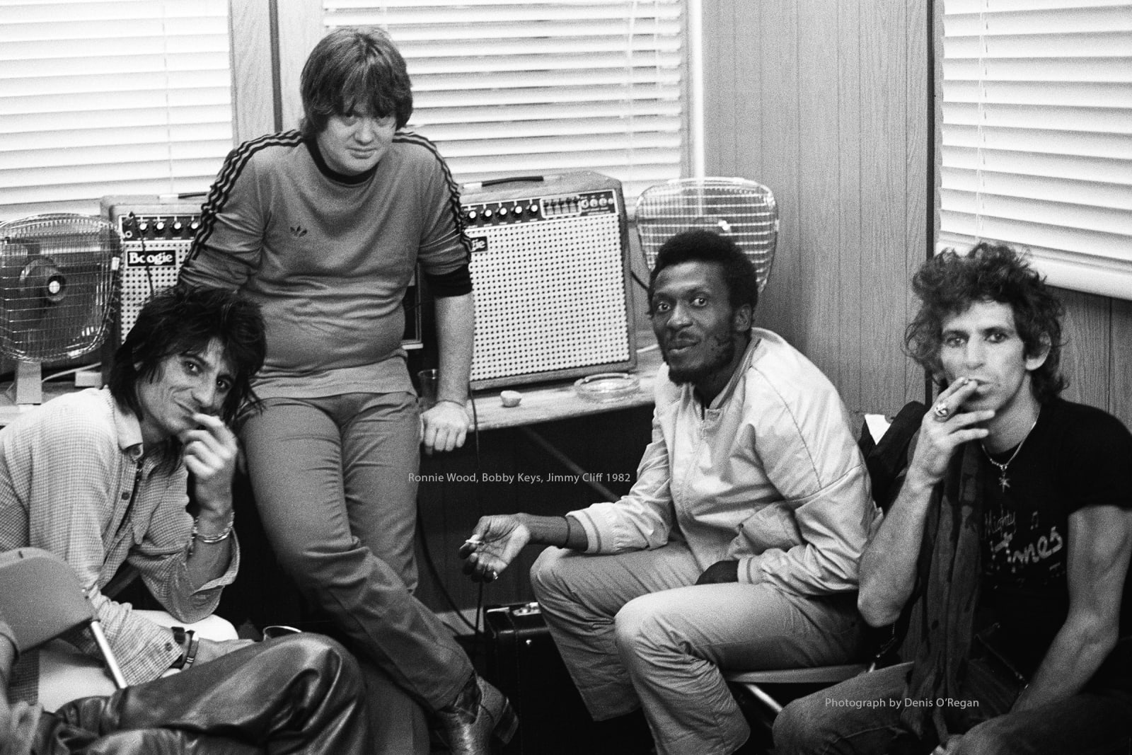 ROLLING STONES, Backstage with Jimmy Cliff, 1982