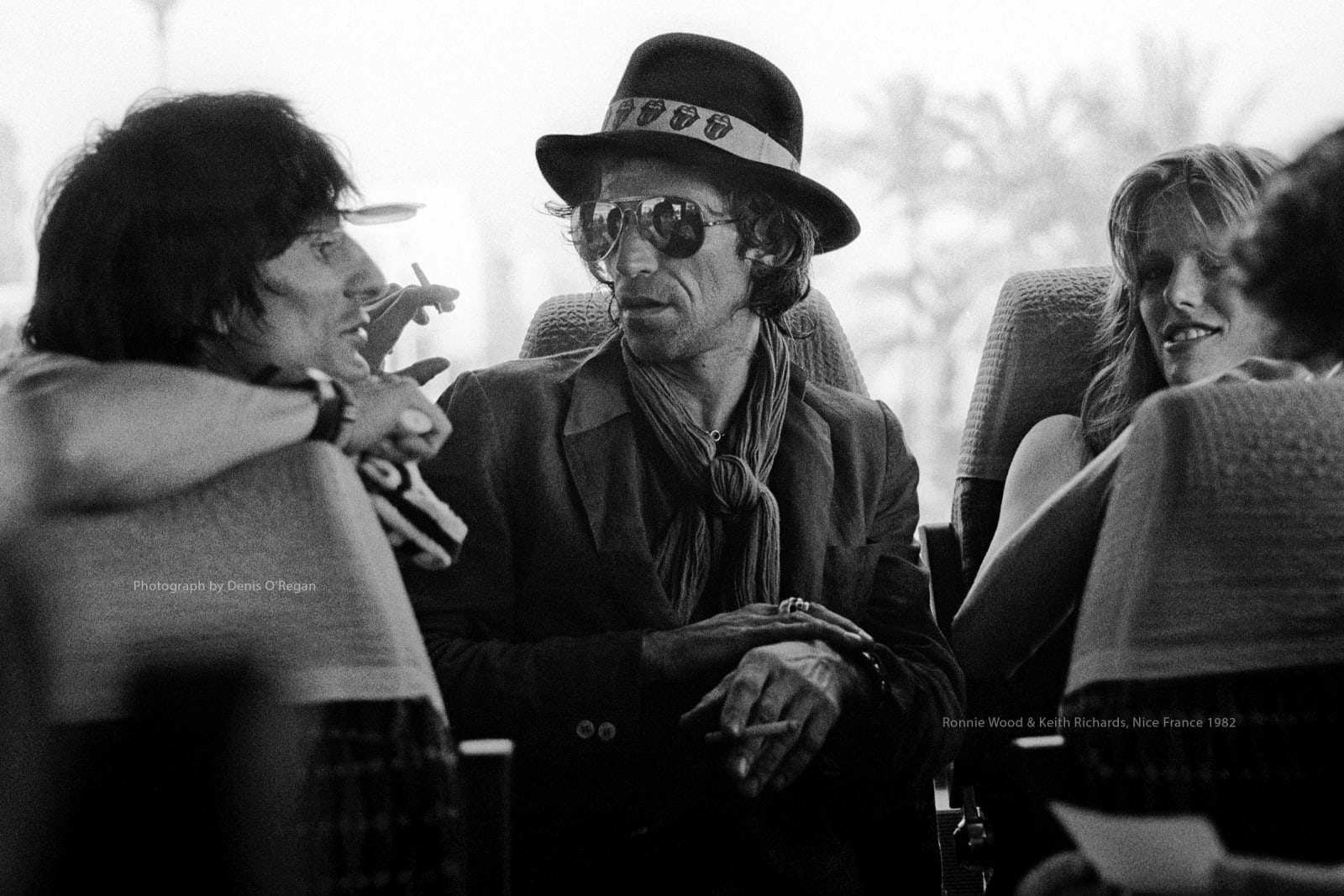 ROLLING STONES, Ronnie & Keith, Nice France, 1982