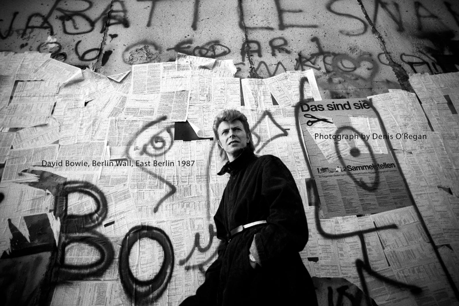 DAVID BOWIE, David Bowie (East) Berlin Wall, 1987
