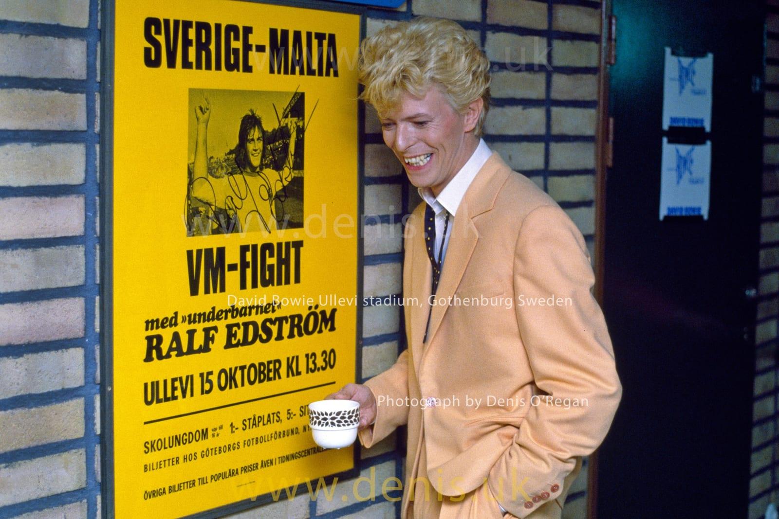 DAVID BOWIE, David Backstage Ullevi Stadium, 1983