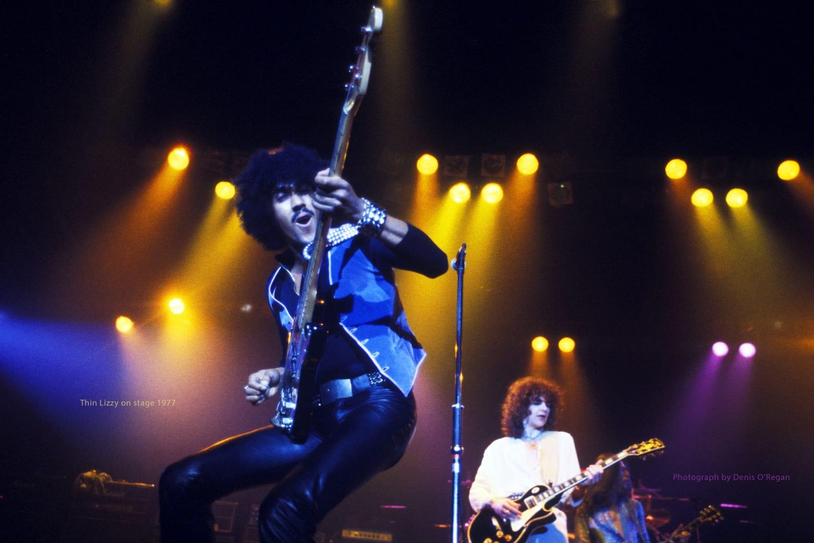 THIN LIZZY, Phil Lynott & Brian Robertson, 1977