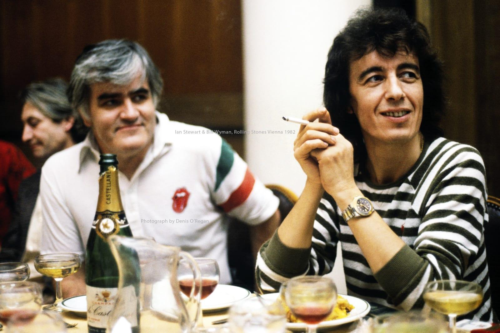 ROLLING STONES, Ian Stewart & Bill Wyman Vienna, 1982