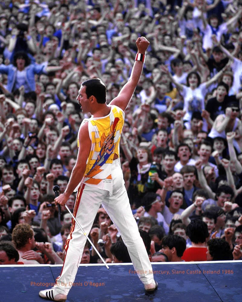 QUEEN, Freddie Mercury Slane Castle, 1986