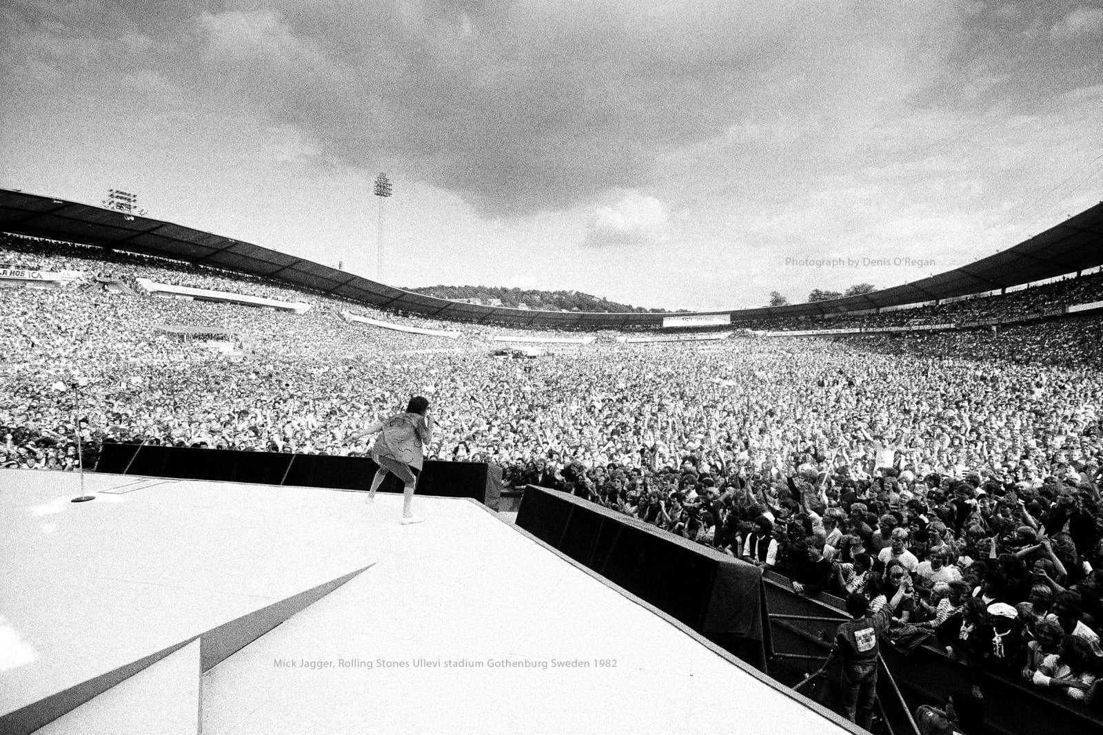 ROLLING STONES, Mick Jagger Gothenburg, 1982