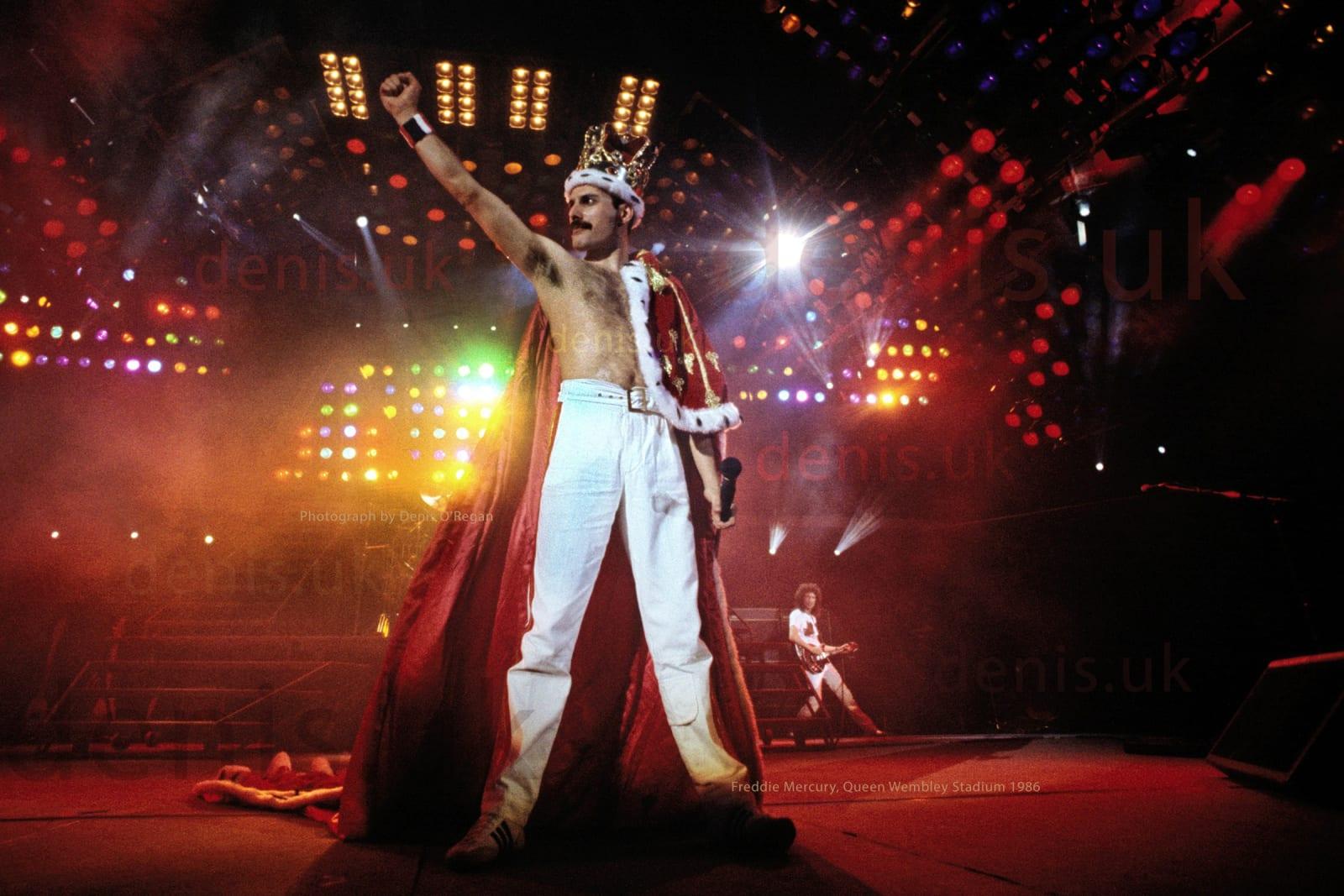 QUEEN, Freddie Wembley Stadium, 1986