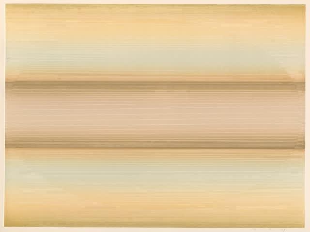 Edward Clark, Untitled (Peach/Pale), 1979