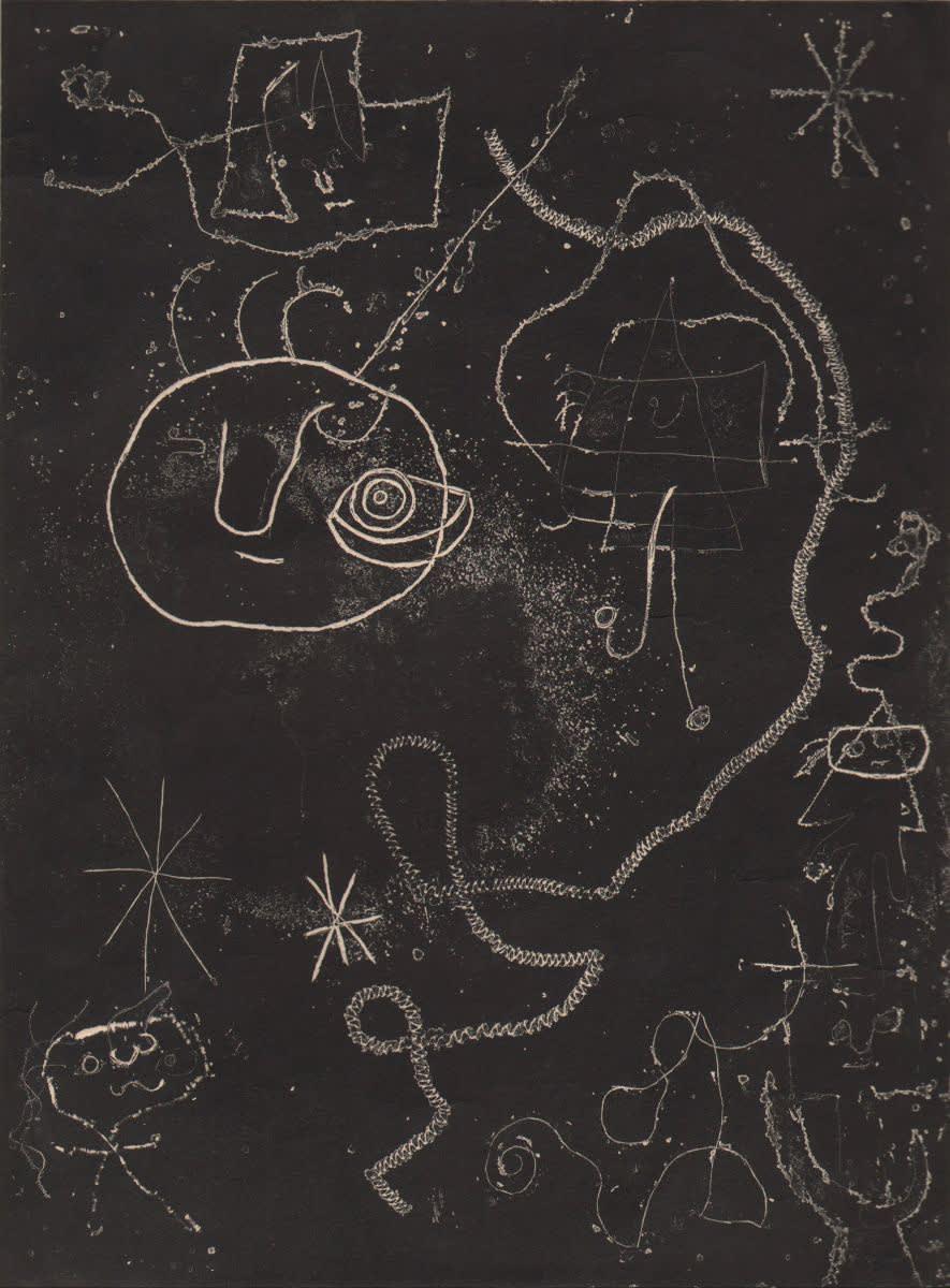 Joan Miró, Petite Fille Sautant a la Corde, Femmes, Oiseaux (Little Girl Jumping Rope, Women, Birds), 1947