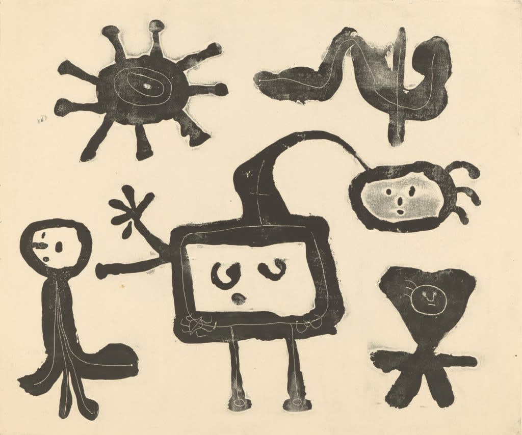 Joan Miró, Serie I, 1947 printed relief