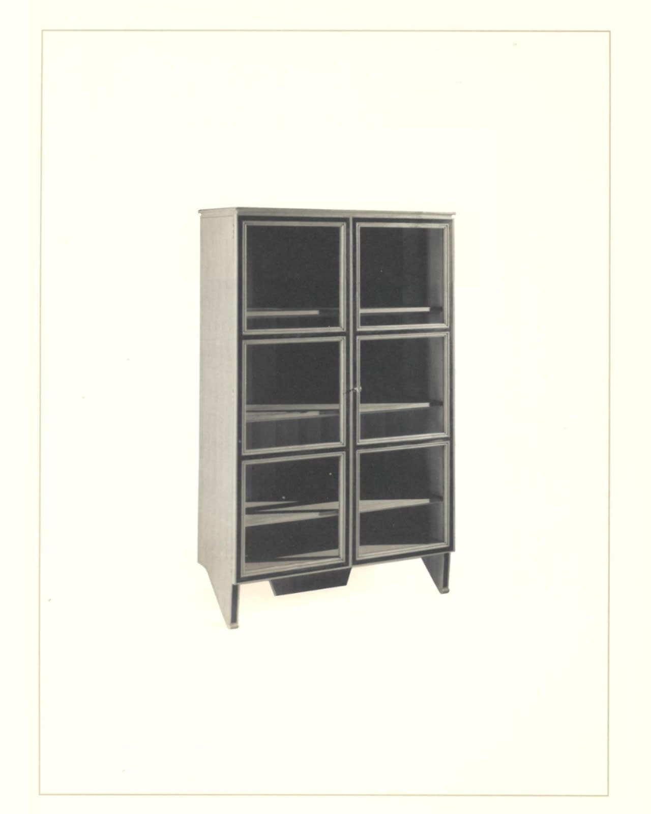 A glass cabinet so you can't hide any unwanted things inside - it is important to be honest and open in life. (Image from