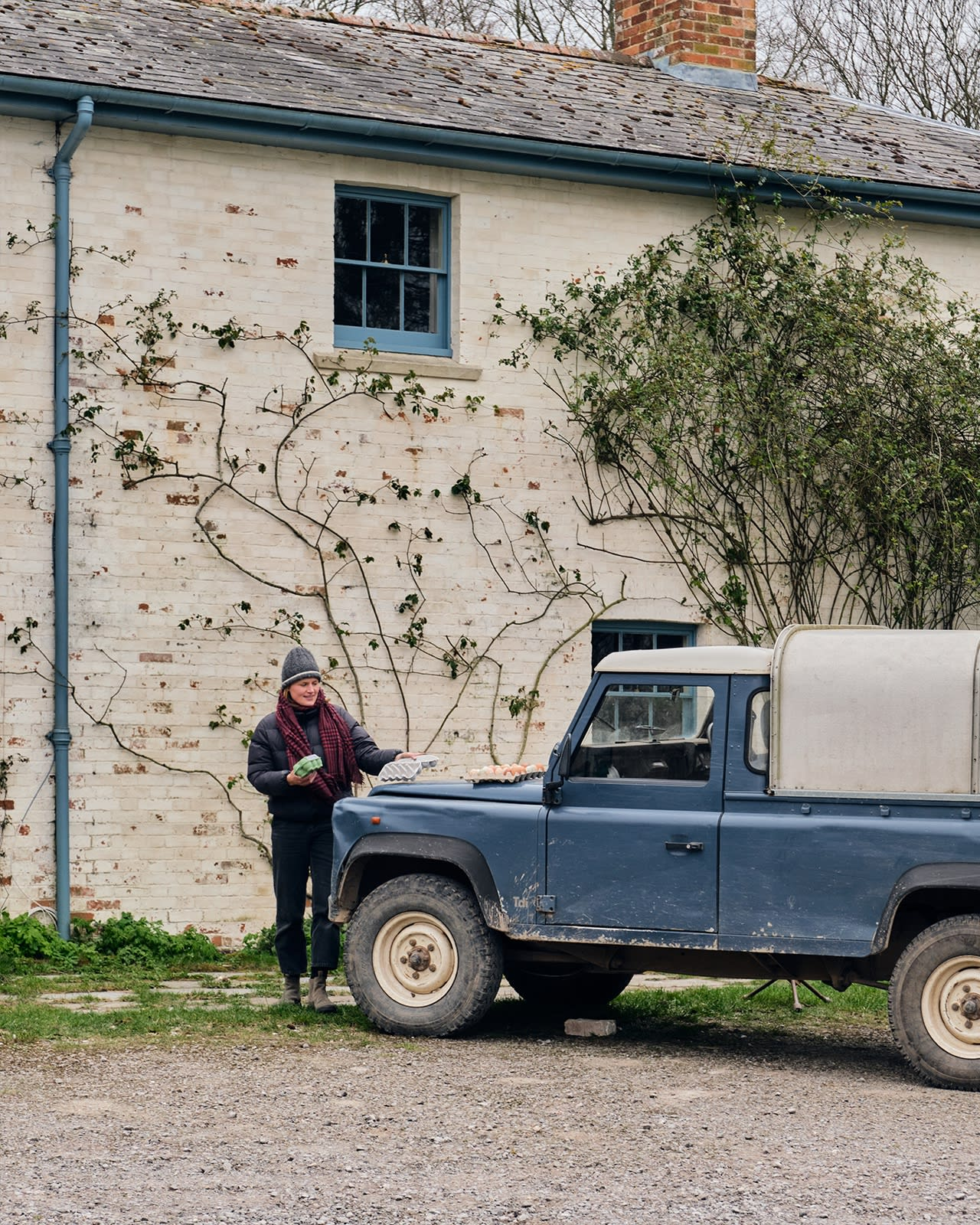 Community spirit in the countryside – Tyga supplying eggs to some neighbours.