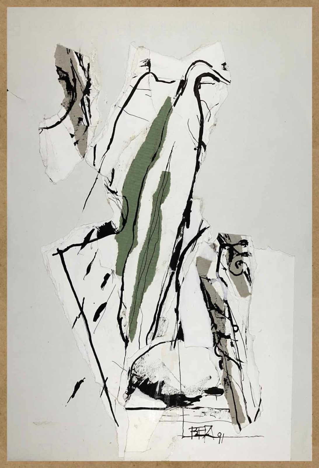 Bert Theis, Pays sage IV, 1991, Drawing, crayon on paper, 48 x 33 cm Courtesy: BertTheis Archive & Erna Hecey Gallery