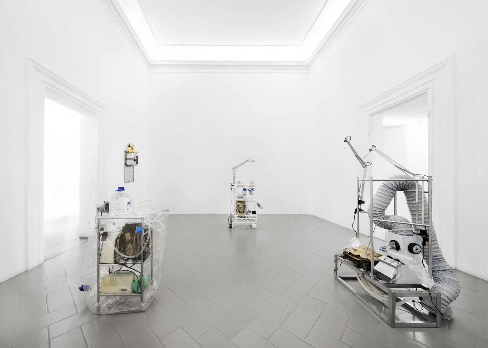 PRJCT: The Missing Link. On every point of a sphere Installation view