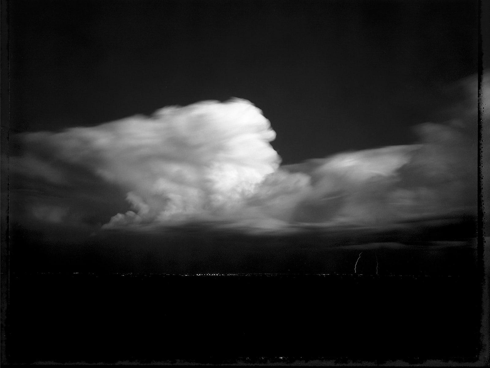 Mark Klett - Night Storm, Glendale, AZ 10/93, 1993