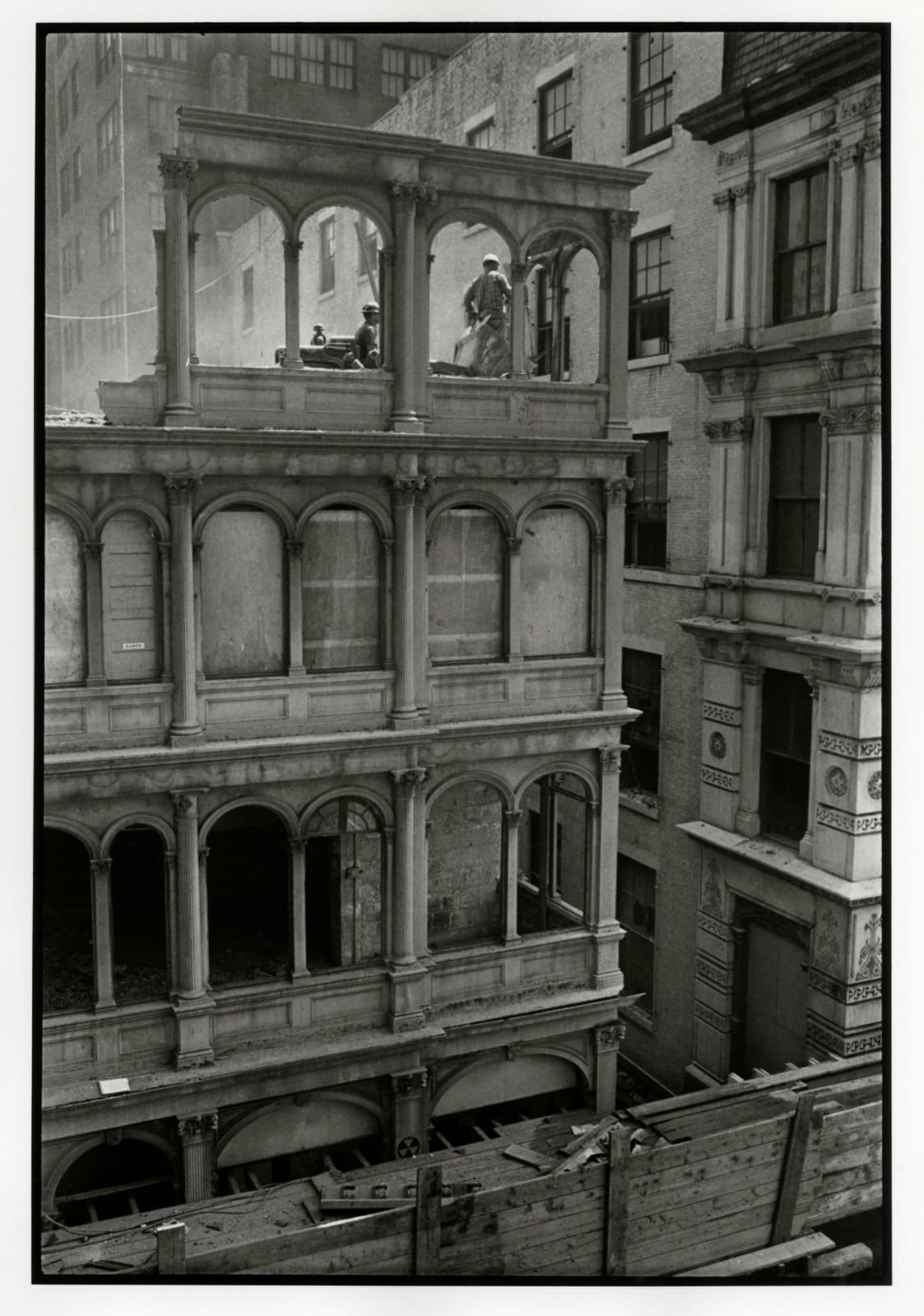 Danny Lyon - 82 Beekman Street, Cast Iron Building, Lower Manhattan, 1967
