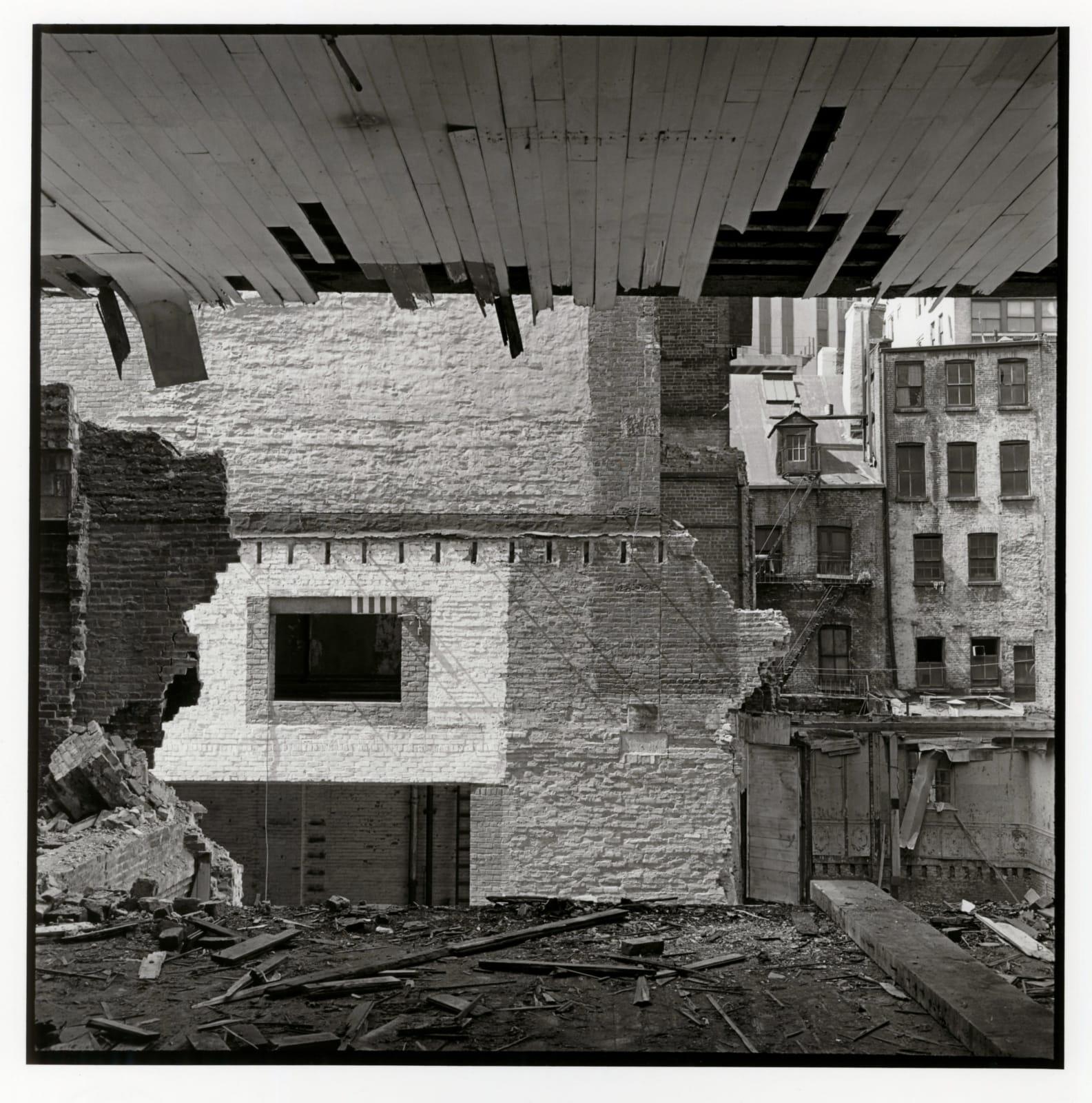 Danny Lyon - View Through The Rear Wall, 89 Beekman Street, Lower Manhattan, 1967