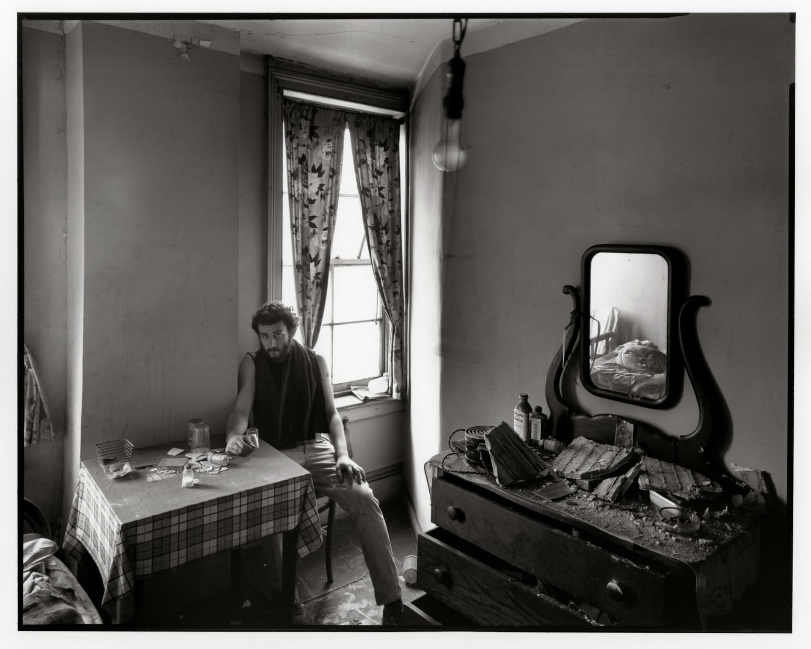 Danny Lyon - Self Portrait In An Abandoned West Street Hotel Room, Lower Manhattan, 1967