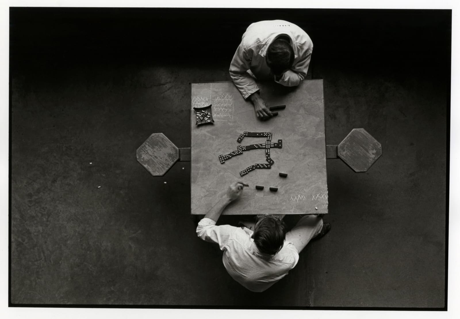 Danny Lyon - The Domino Players, Walls Unit, Texas Department Of Corrections, 1968