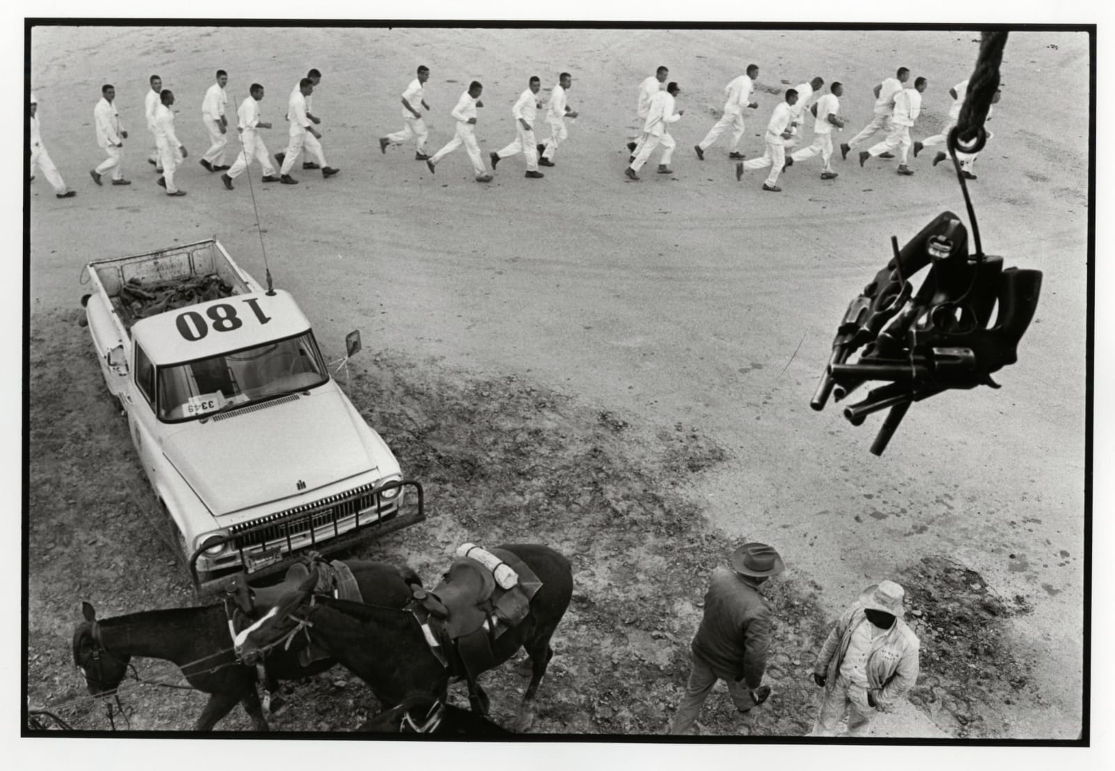 Danny Lyon - Guns Are Passed To The Picket Tower, Ferguson Unit, Texas Department Of Corrections, 1968