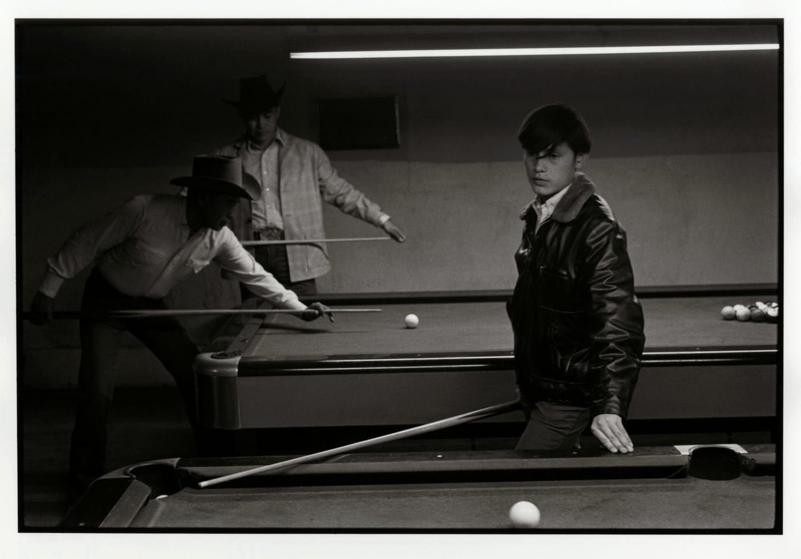 Danny Lyon - Navajo Pool Room, Gallup, New Mexico, 1973