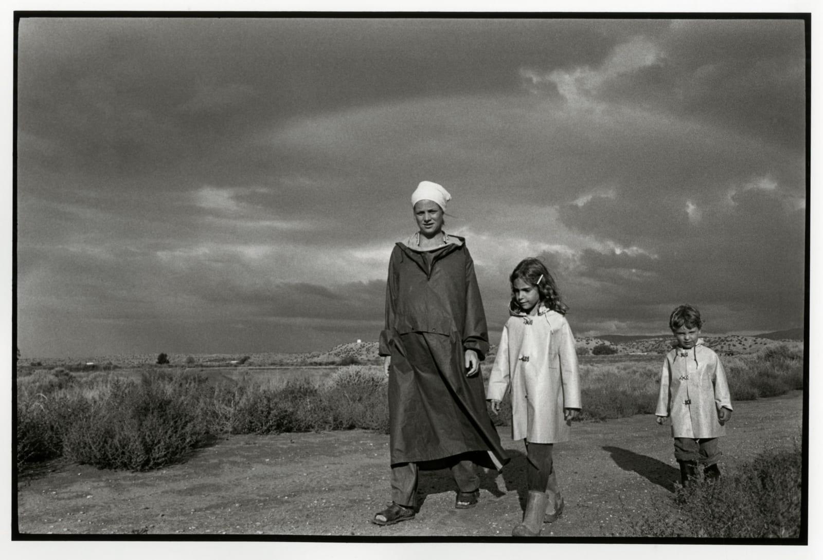 Danny Lyon - Nancy, Gabrielle, and Raphe, Llanito, August, 1979