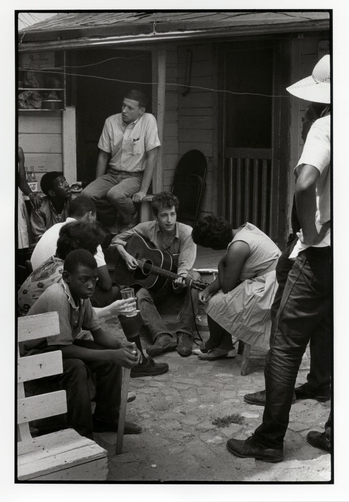 Danny Lyon - Bob Dylan Behind The SNCC Office, Greenwood, Mississippi, 1963