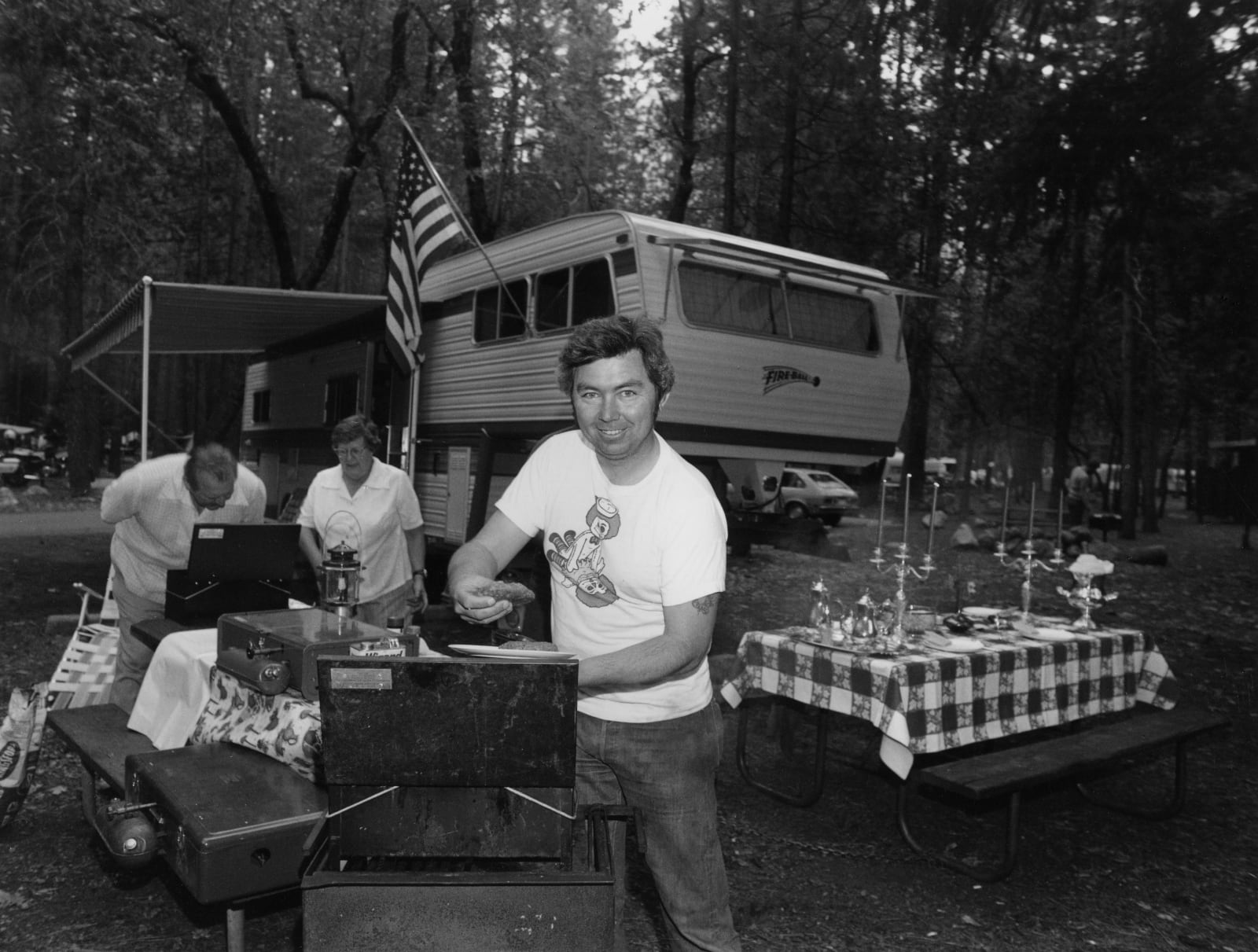 Bill Owens - Every summer we go all out on our camp in Yosemite. I do the barbequing., 1972