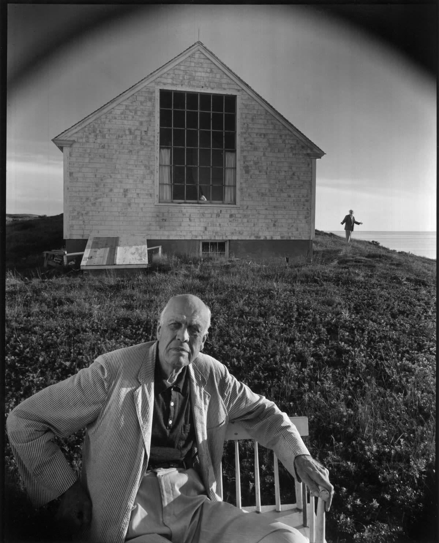 Arnold Newman - Edward Hopper And Jo, Truro, MA, 1960