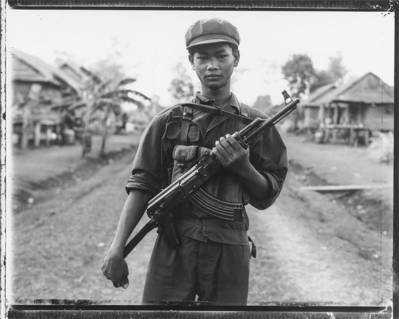 Bill Burke - Khmer Rouge Soldier with AK, Nong Pru, 1984