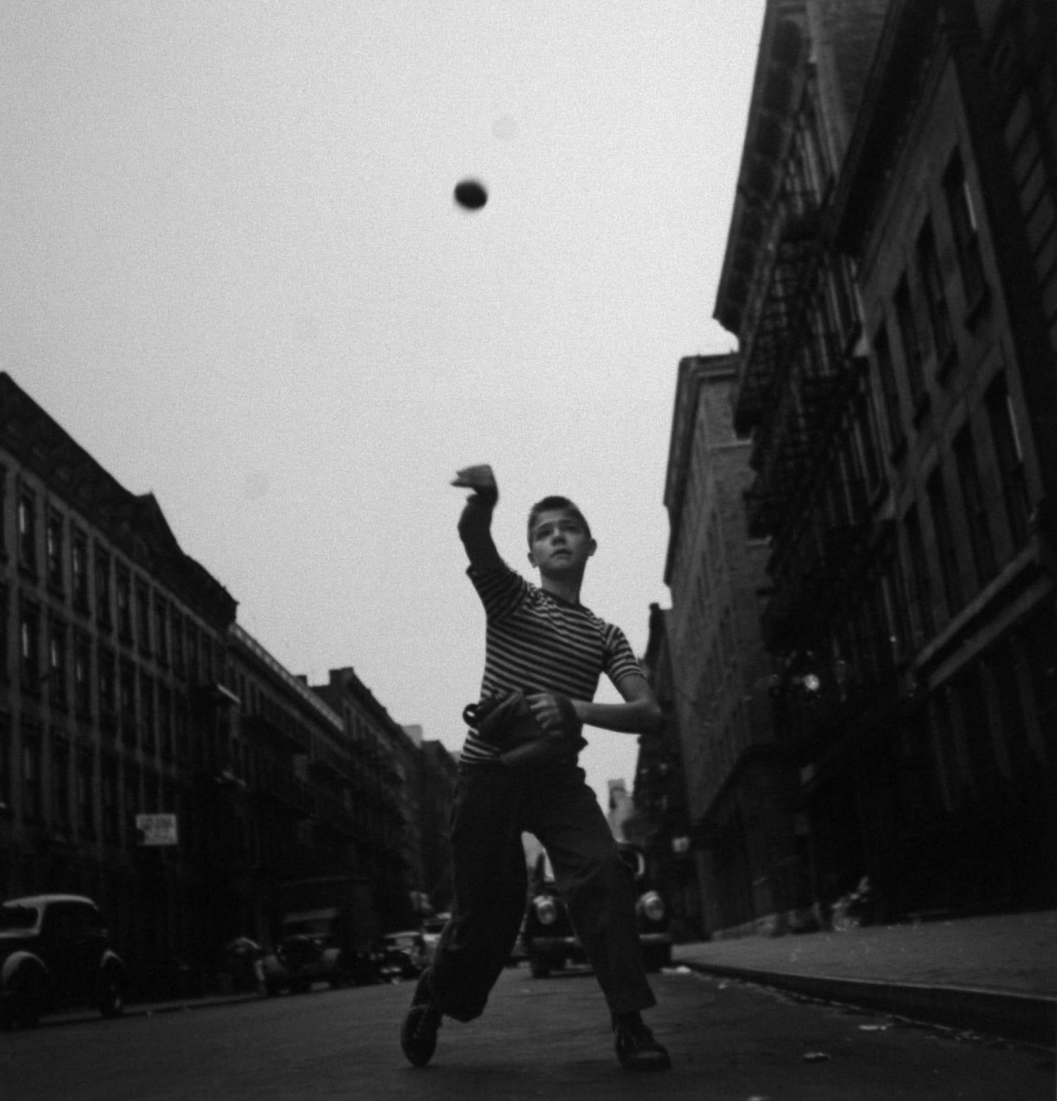 SOLD: Cornell Capa - Pitching Ball, New York City, 1948