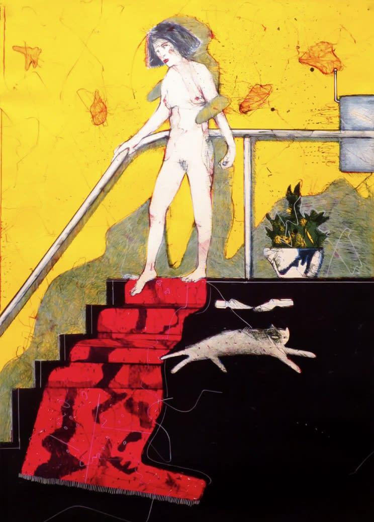 James G. Davis Nude Descending Staircase, 1988