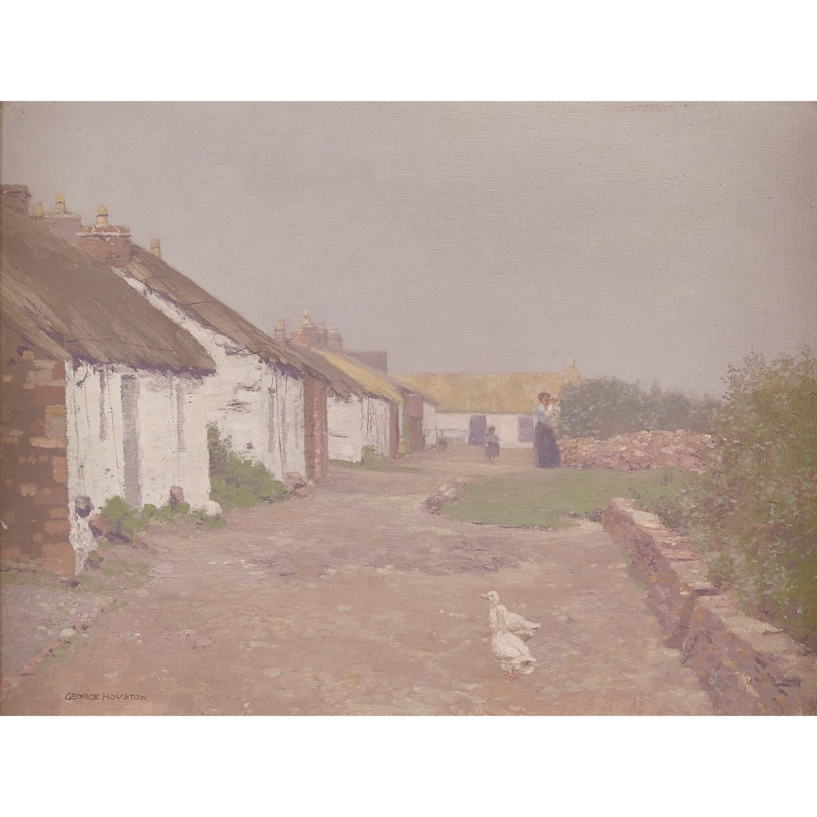 George Houston, The village street, Iona, c.1900-1910
