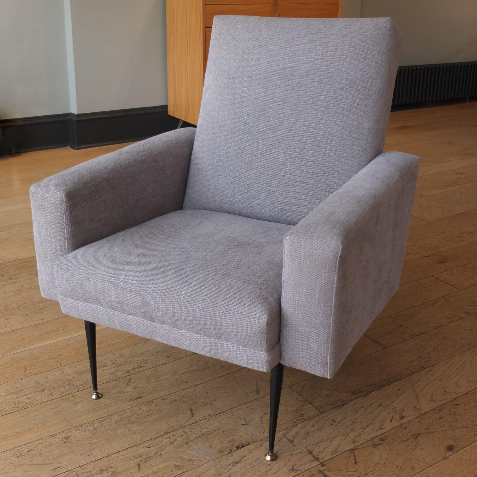 Italian pair of mid-century armchairs, 1950s