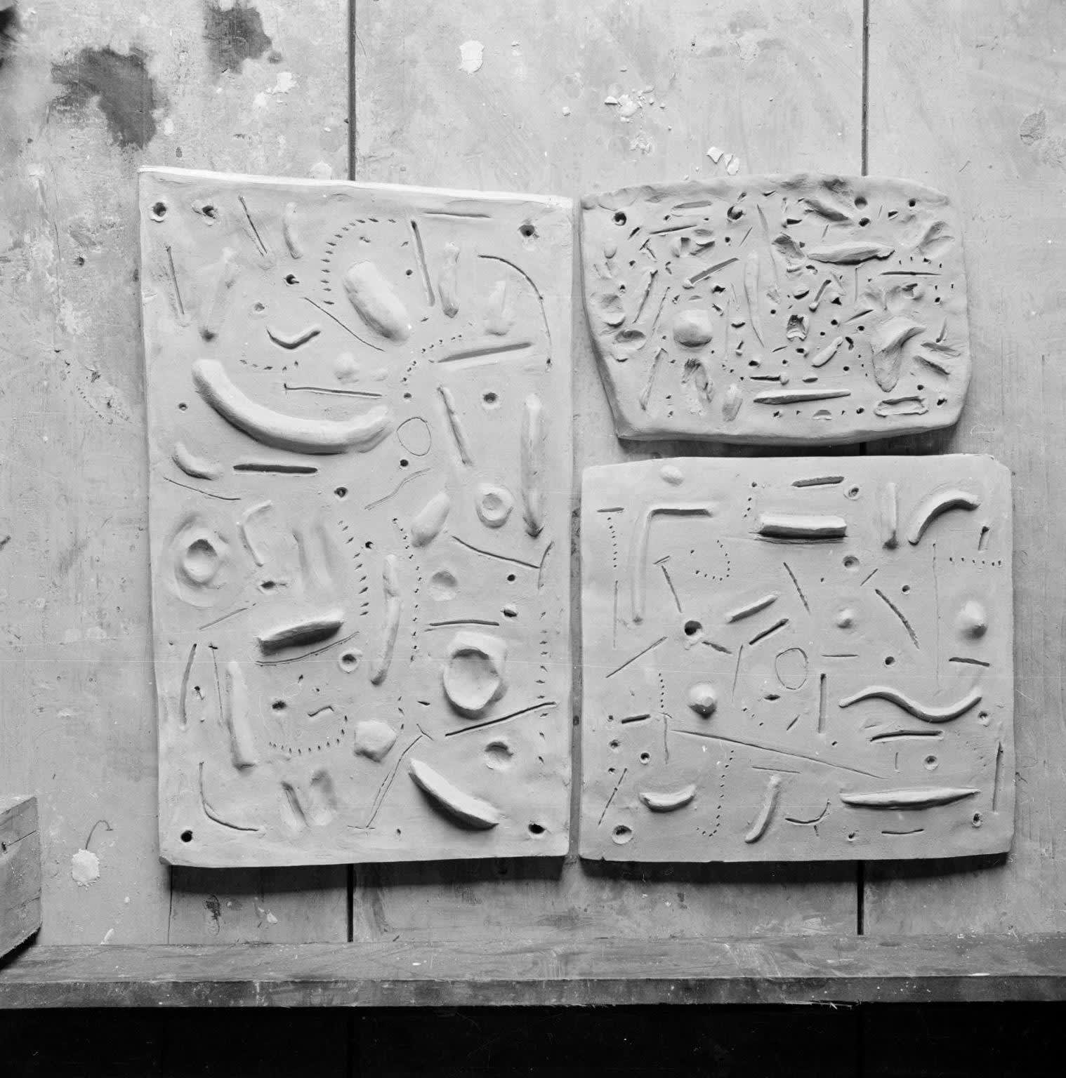 Contemporary photograph of other Reliefs by Eduardo Paolozzi c.1949-1956, taken by Nigel Henderson. The Eduardo Paolozzi Foundation. The Estate of Nigel Henderson. Tate Archive