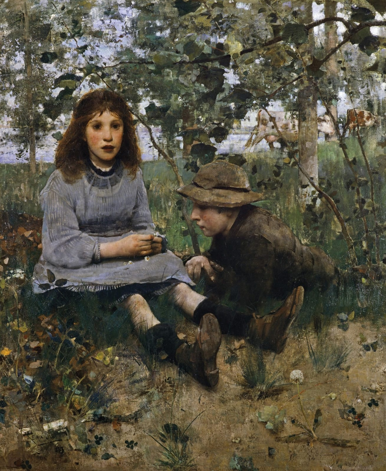 Edward Arthur Walton RSA PRSW 1860-1922 A Daydream, 1885 oil on canvas National Galleries Scotland. Purchased with the aid of the Art Fund 1999