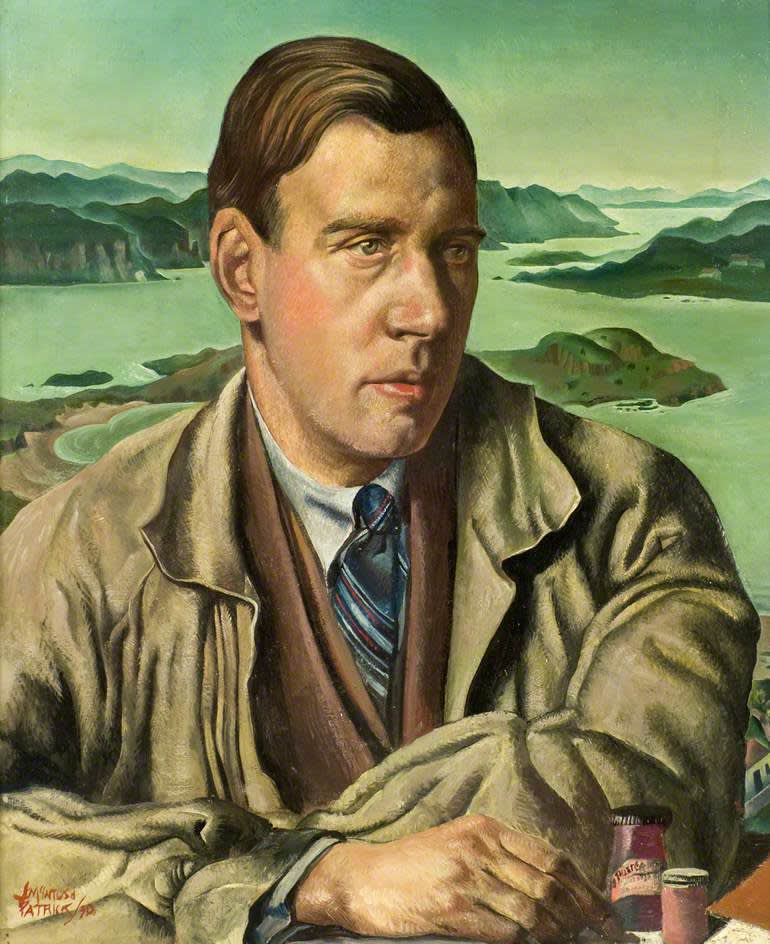 James McIntosh Patrick OBE RSA 'Alex Russell, Head of Design', 1930, oil on canvas in the collection of The University of Dundee, Duncan of Jordanstone College