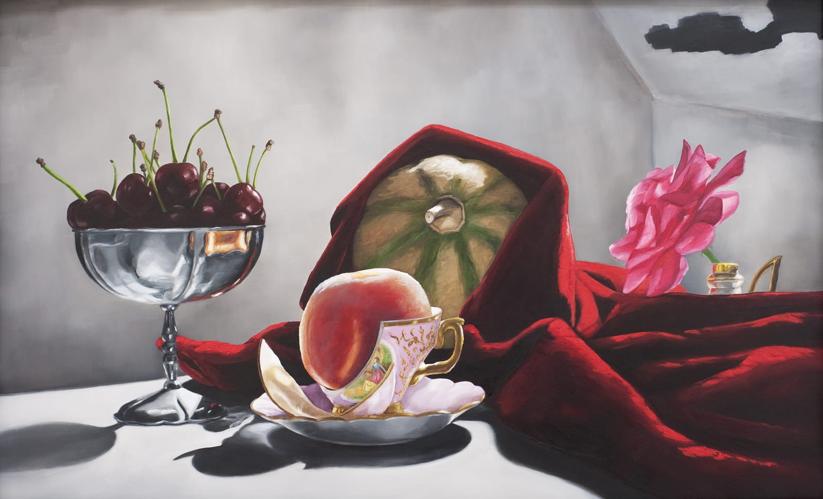 Royal Tea, 2010/20, 43 x 67cm, Oil on canvas