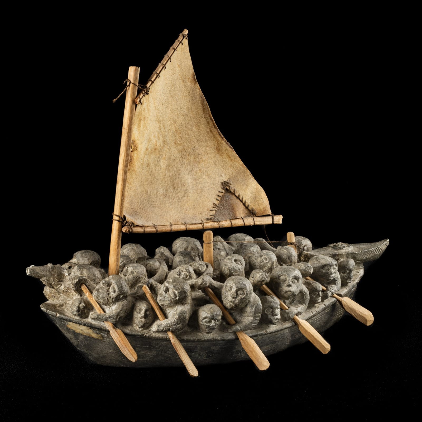 JOE TALIRUNILI (1893-1976) PUVIRNITUQ (POVUNGNITUK) Migration Boat, early-mid 1970s ESTIMATE: $150,000 — $250,000 PRICE REALIZED: $408,000 A world record price for a work of Inuit art sold at auction.