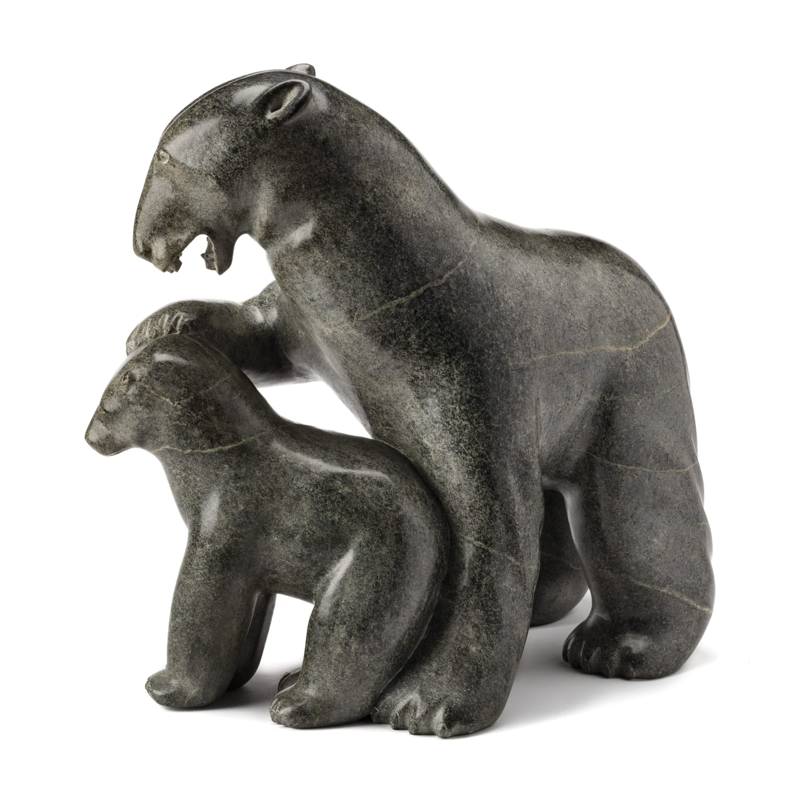 NUTARALUK UILIA IYAITUK (1943-) IVUJIVIK Polar Bear and Cub, c. 1980s REALIZED: $8,400