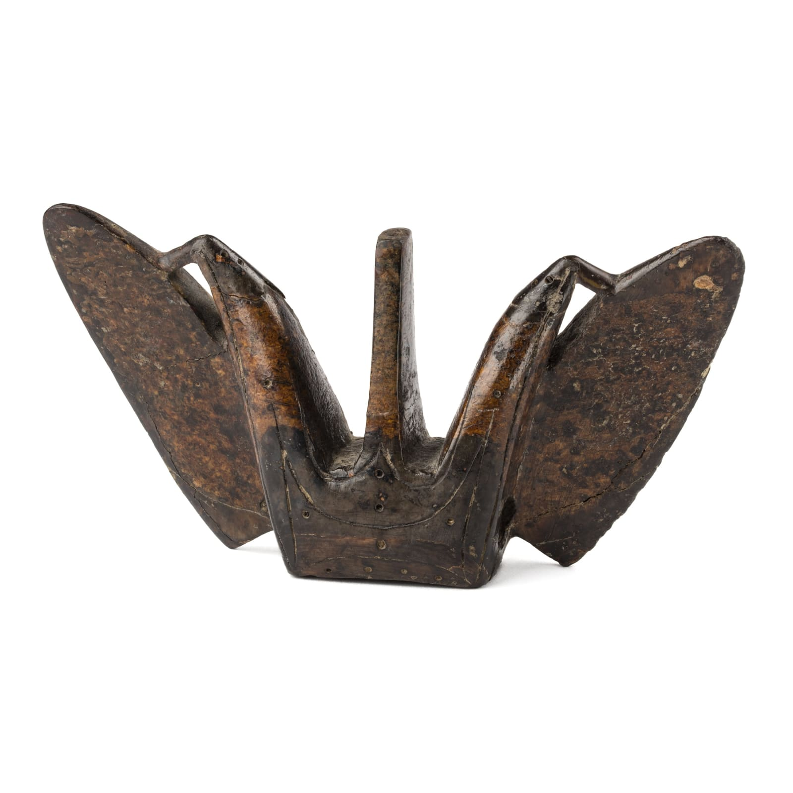 EARLY PUNUK CULTURE, BERING SEA, ST. LAWRENCE ISLAND, ALASKA OR CHUKOTKA Harpoon Counter Weight (Winged Object), c. AD 600-800 REALIZED: $3,840