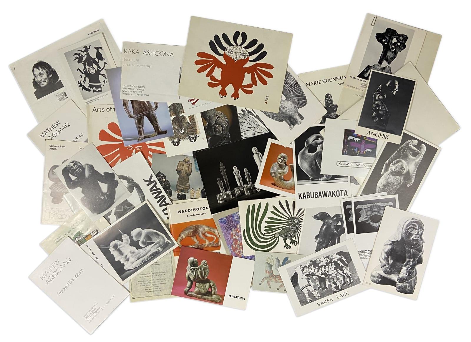 Lot 81 Quantity of Inuit Art Ephemera Estimate: $100 — $200 price realized: $390