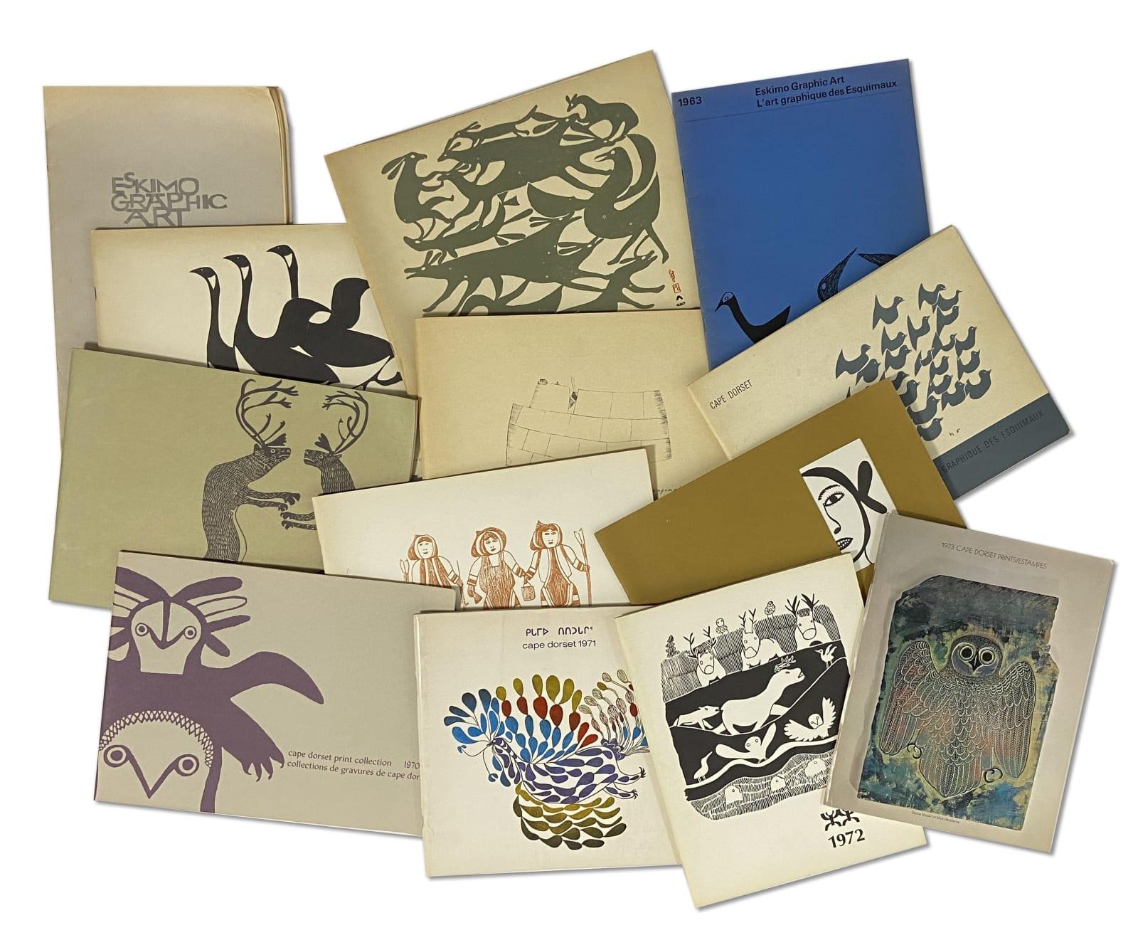 Lot 83 Quantity of Cape Dorset Annual Print Catalogues Estimate: $150 — $250 PRICE REALIZED: $600