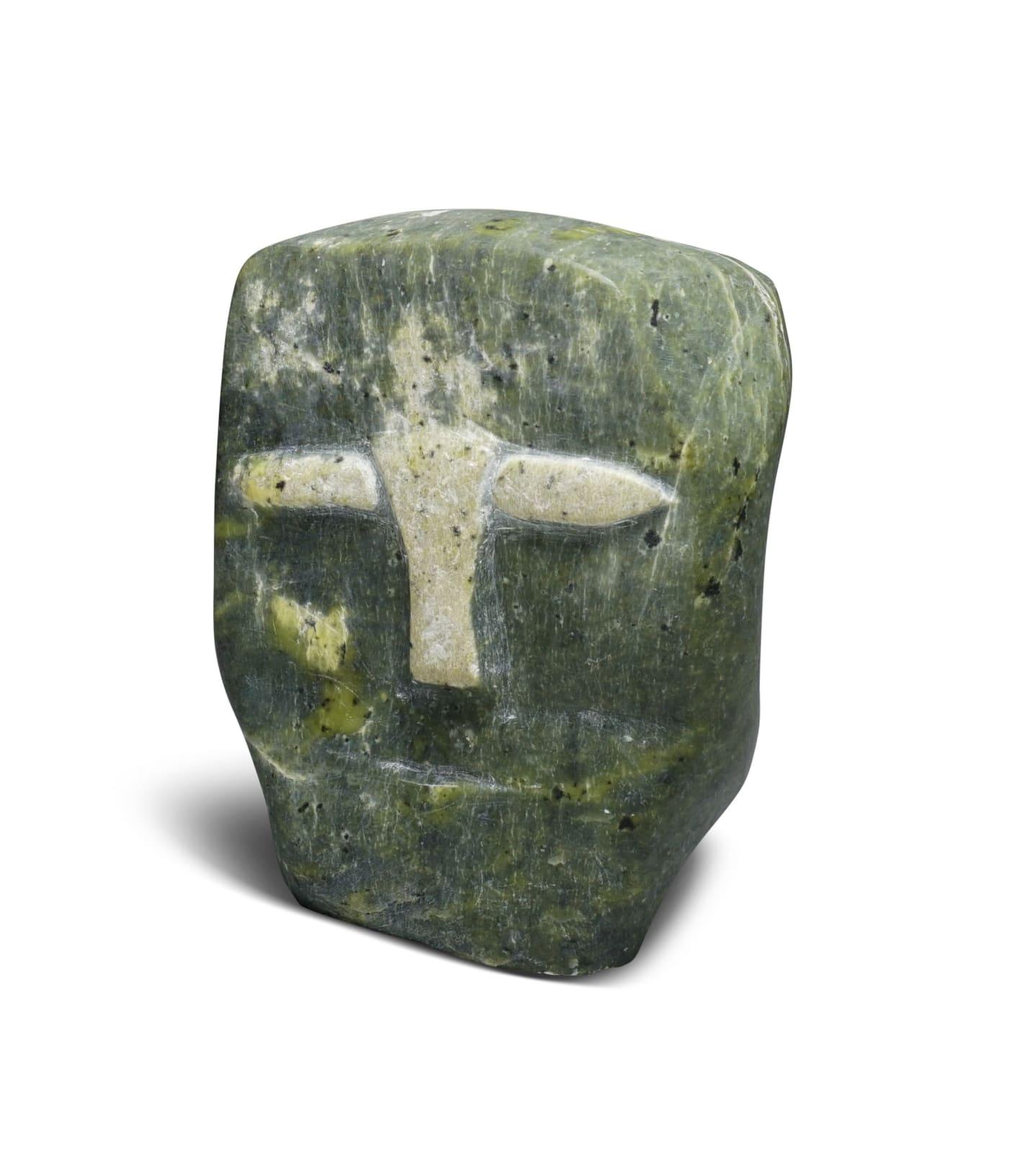 LOT 51 KOVIANITUK ADAMIE (1906-D) IQALUIT (FROBISHER BAY) Head, c. 1975 stone, 5 x 5 x 4 in (12.7 x 12.7 x 10.2 cm) ESTIMATE: $500 — $800 price realized: $480