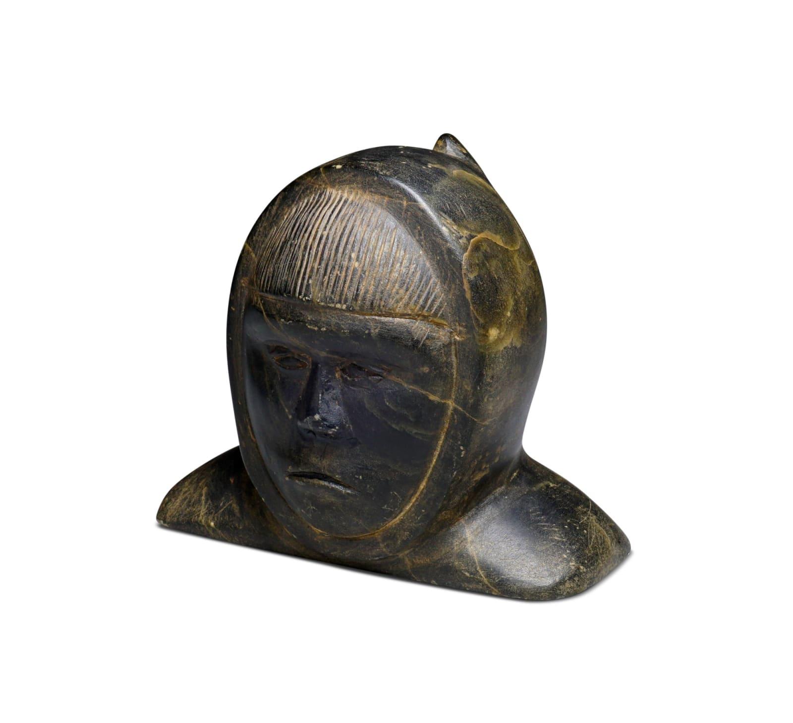 LOT 23 TERRY IRQITTUQ (1930-) SANIRAJAK (HALL BEACH) Bust of a Man, 1963 stone, 3 x 3 1/2 x 2 3/4 in (7.6 x 8.9 x 7 cm) ESTIMATE: $150 — $250